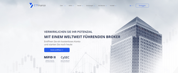ETFinance Screenshot